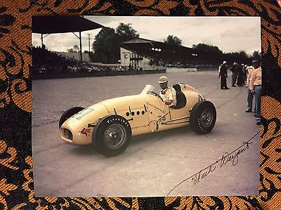 Chuck Weyant Signed Indy 500 8 X 10 Car Photo Autographed Indianapolis RIP