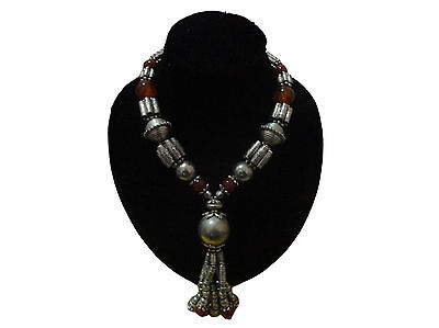 Moroccan african Berber  Brown beads artisan necklace