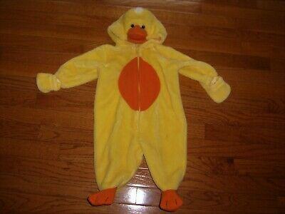 Bunting Halloween Costumes (First Moment Baby Duck Costume Halloween Bunting Snowsuit 1-pc Hooded Baby 6-9)