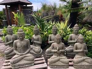 Stone Lady praying Balinese statue Greenstone STATUE GARDEN Berry Shoalhaven Area Preview