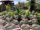 Stone Lady praying Balinese statue Greenstone STATUE GARDEN
