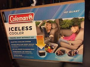 Coleman iceless cooler.