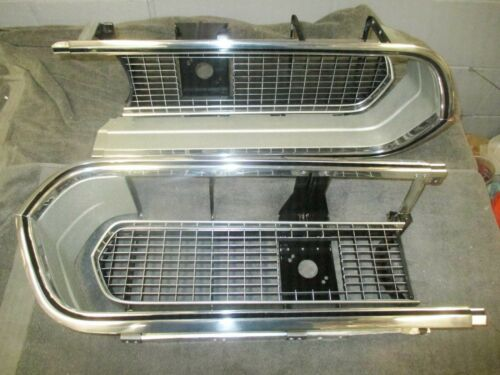 BARRACUDA GRILL SET 67 68 CORE - POLISHED - SEND TO US 1967 1968 cuda GRILLE