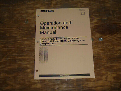Cat Caterpillar Cp74 Vibratory Compactor Owner Operator Maintenance Manual C7f1-