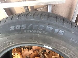 4 Winter Tires - Michelin X Ice - 205/65/15 Peterborough Peterborough Area image 4
