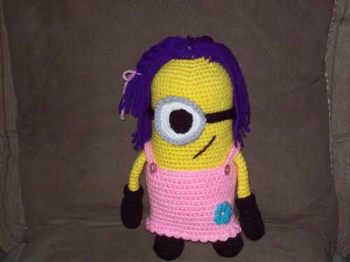 Adorable 10 in Minion Girl doll toy animal handmade