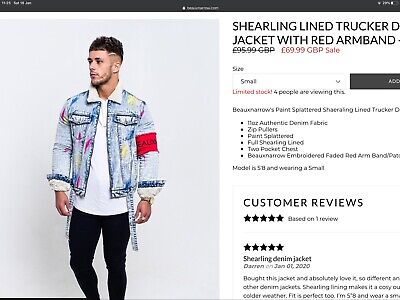 Beauxnarrow Fur Lined Denim Jacket Size L Like Hera, Levi's