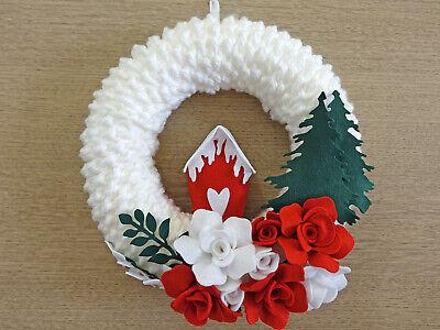 dietroporta fuoriporta Natalizio corona ghirlanda natalizia fatta a mano