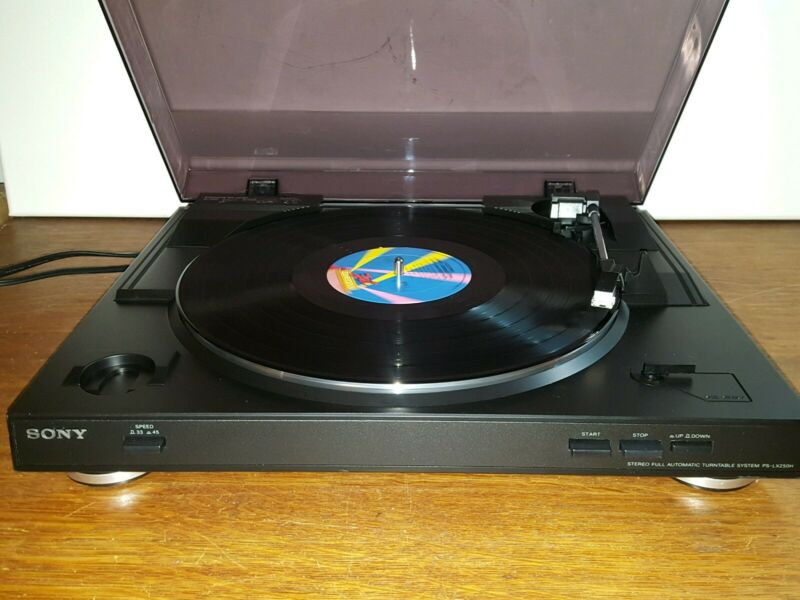 Sony PS-LX250H Stereo Full Automatic Turntable System - Black - Tested and Works