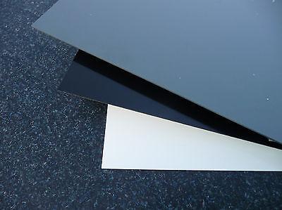Hart PVC Platte Zuschnitt 1000 x 265 x 10 mm Grau RAL 7011 Reststück