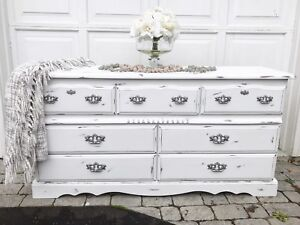 Beautiful Dresser refinished with Chalk Paint.