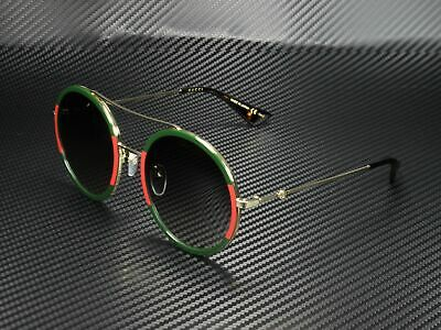 GUCCI GG0061S 003 Round Oval Gold Green 56 mm Women's Sunglasses