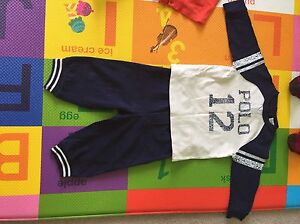 9 month polo top and matching pants