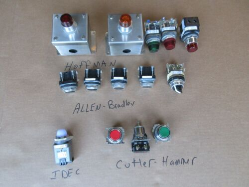 Lot - Allen Bradley Pilot Light, Switches, Etc.   M37