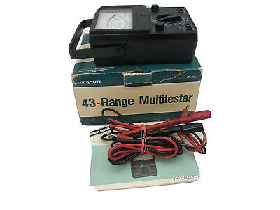 Micronta Multitester Multimeter 43 Range Volts Amps Doubler 22-214 W Leads A2