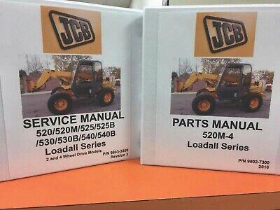 Jcb520m-4 Loadall Series Manual Set