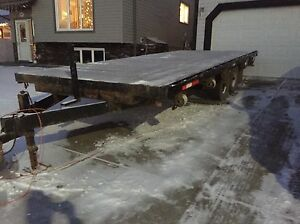 20' Flat Deck Trailer - Good condition - $4200 OBO
