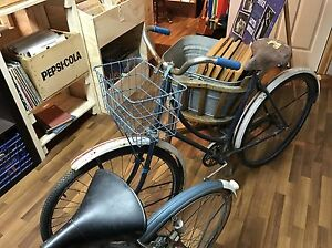 Antique ladies bike with basket 1950's