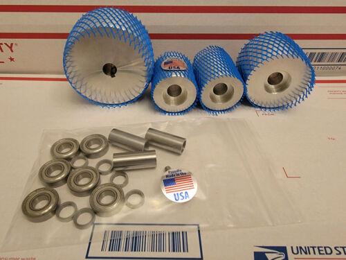 2 x 72 Belt Grinder Wheel Set  **CNC Precision Turned!**