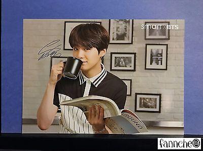 BTS Bangtan Boys SMART Official large Post Card photocard - Suga w/ gift