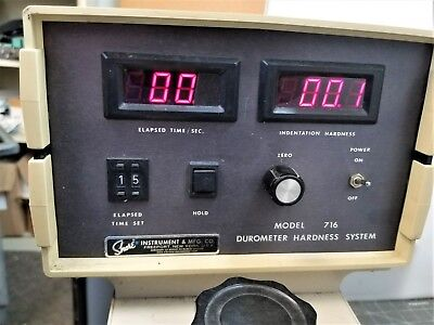 Shore Instruments 716 Automatic Digital Operating Stand Type A Durometer C10s4
