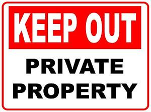 KEEP OUT PRIVATE PROPERTY METAL SIGN 300 X 225 PROPERTY SIGN