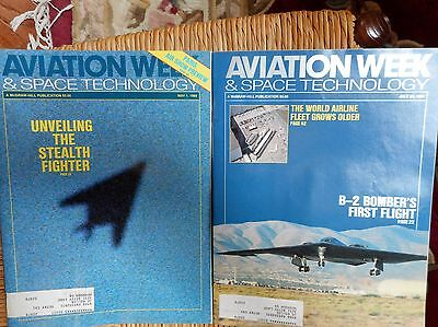 Aviation Week   Space Technology B 2 Bombers First Flight Stealth Fighter 1989