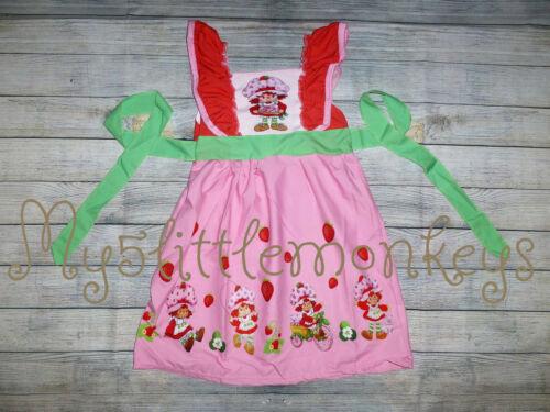 NEW Boutique Strawberry Shortcake Girls Sleeveless Ruffle Dress