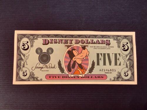 Disney Dollar $5 - Goofy- 1987