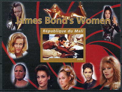 Mali 2018 MNH James Bond Girls Women 007 Sean Connery 1v IMPF M/S Movies Stamps