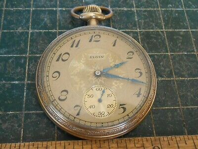 Elgin Pocket Watch . Size 14s . Gold Filled . Runs and Stops