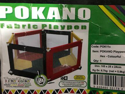 TikkTokk Pokano Fabric Hexagonal Playpen & Mat