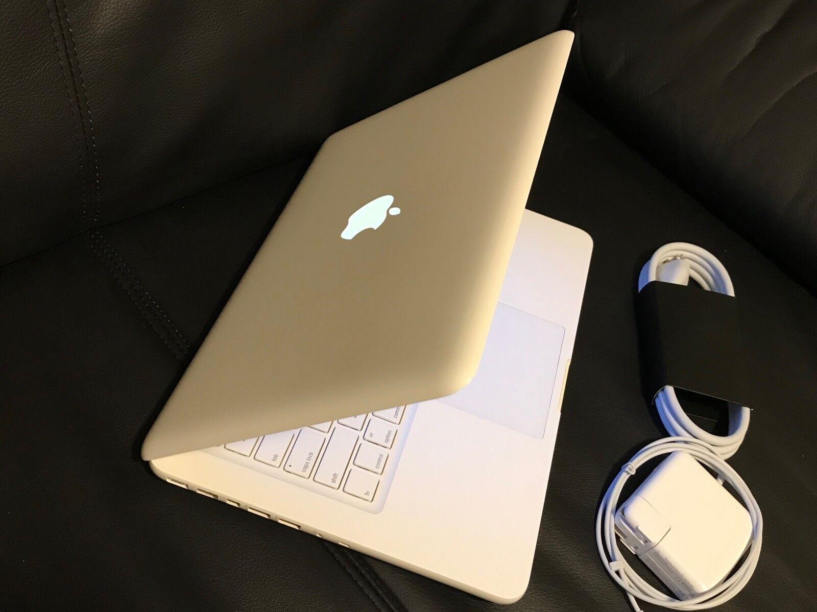"""Apple MacBook White 13"""" MC516LL/A 250GB HDD Intel 2.40GHz 4GB LATEST MAC OS 2017"""