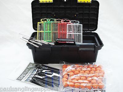 Carp Fishing Tackle Box & Starter Set Boilies ,Drill Needle Stops & Hair Rigs 4