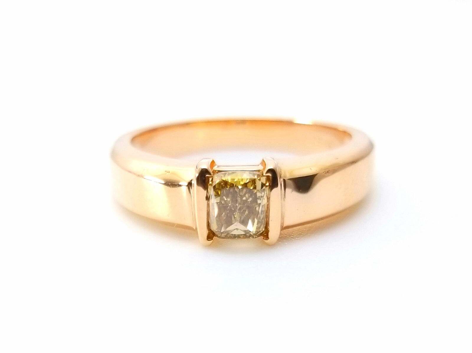 Whiskey Diamond - VS1 Men's Unisex Ring 1.00ct Natural Fancy Brown GIA 18K Gold