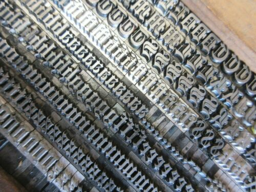 Letterpress Lead Type 24 Pt. Engravers Old English ATF # 148    a23
