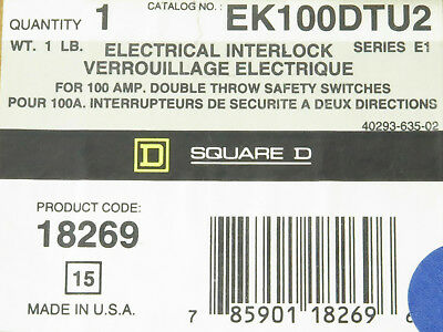 Square D Ek100dtu2 Electrical Interlock For 100 Amp Double Throw Safety Switches