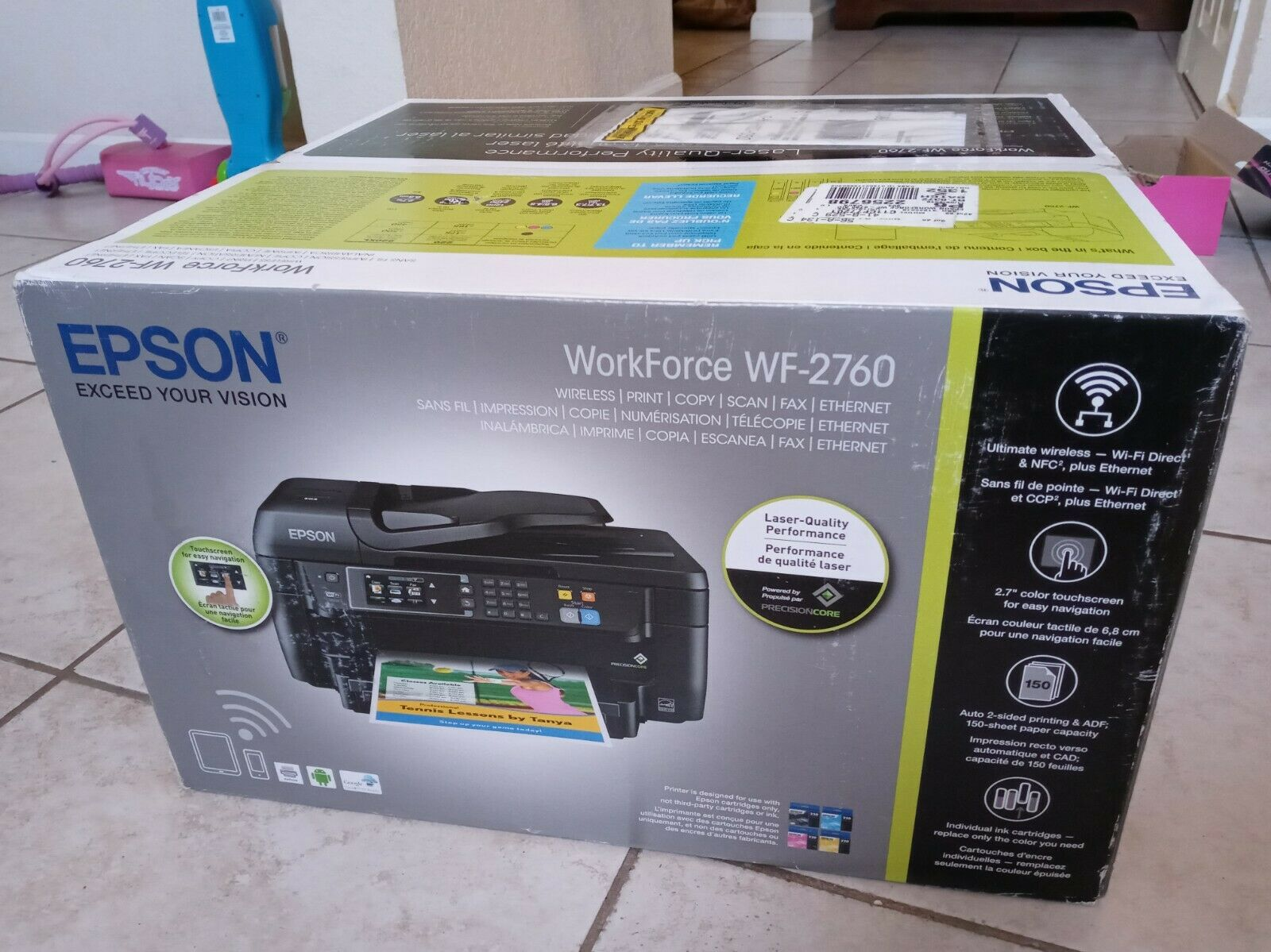 BRAND NEW in Factor Sealed Epson Workforce WF-2760 All-In-On