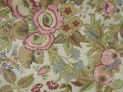 Vtg Bloomcraft Dupont Zepel Stain Repeller Floral Fabric Remnant 50 X 3 Yds  10