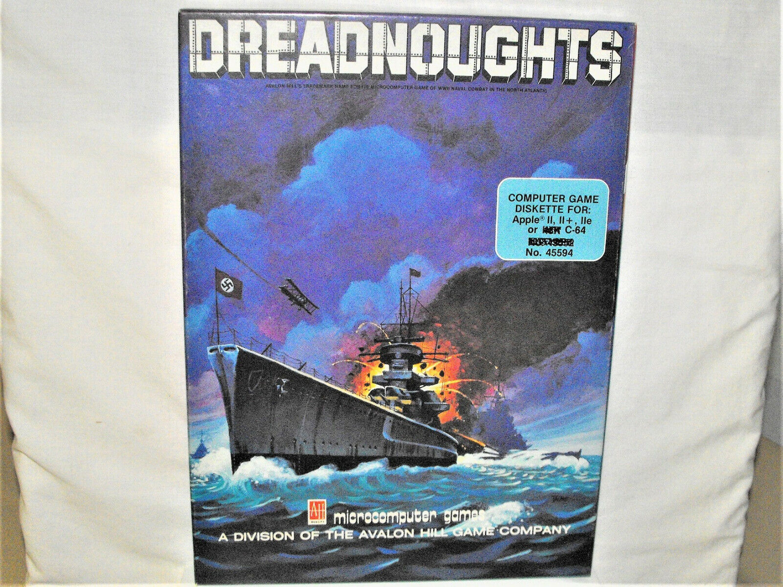 Computer Games - Commodore 64 Apple II Computer Game DREADNOUGHTS Avalon Hill Disk Box Papers NR