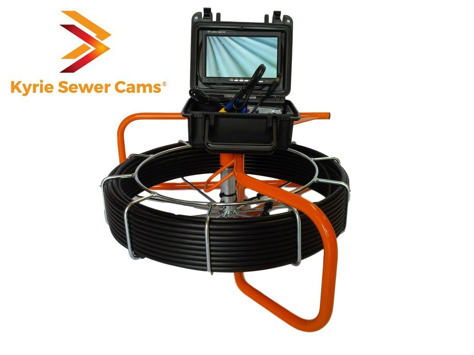 100 foot pipe inspection camera, sewer main inspection, 100' ft video scope