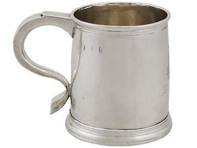 Antique George I Britannia Standard Silver Mug London 1718