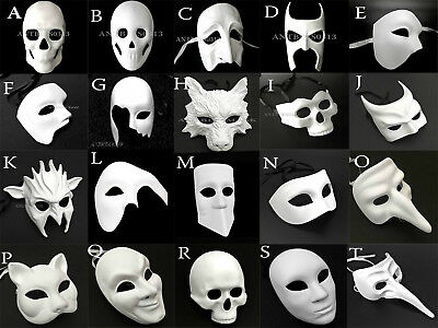 Halloween DIY Blank Masquerade Costume Ball Prom Party Mask (Diy Halloween Party Costumes)