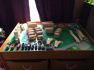 Wooden Train set w/ Table