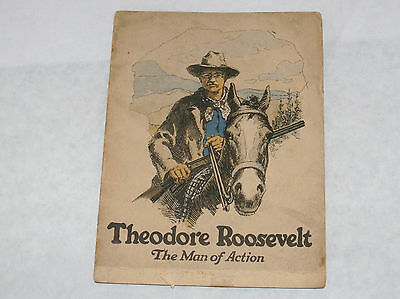 TEDDY THEODORE ROOSEVELT BOOKLET BIOGRAPHY ADVERTISING JOHN HANCOCK INSURANCE