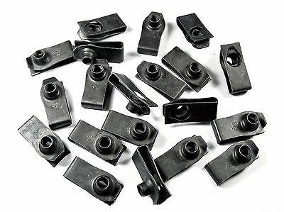 U-nut Clips For Nissan- M6-1.0mm Thread- 19.5mm Center To Edge- Qty.20- #194