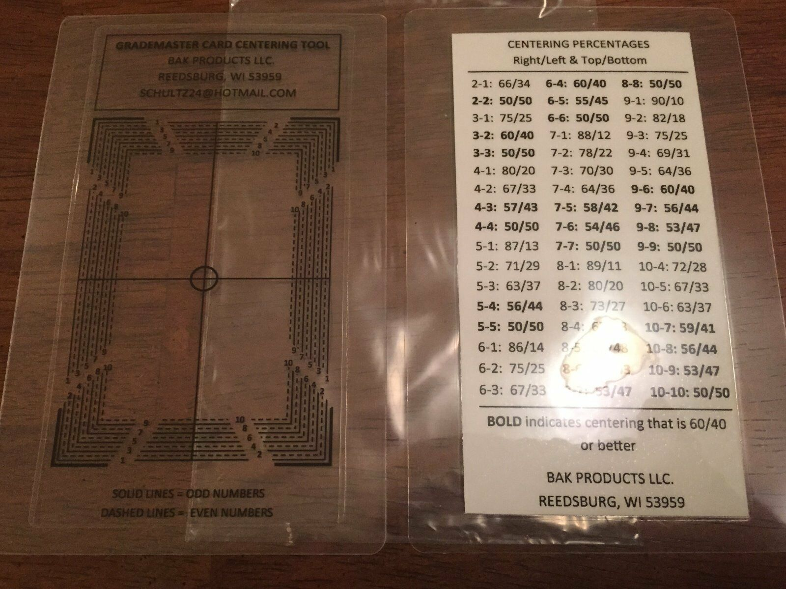 ORIGINAL GRADEMASTER Card Centering Tool for PSA BGS SGC!! Chance at a PSA 10!!