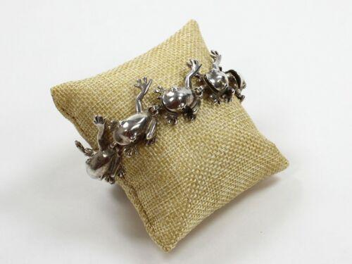 925 Sterling Silver Link Bracelet with Frog Design