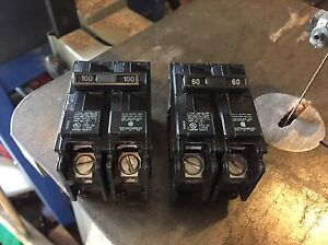 Siemens double pole breakers blade type London Ontario image 1