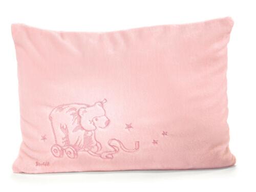 Steiff Cuddly Pillow Pink Baby Girl EAN 238857 Bear Soft Plush Shower Gift New